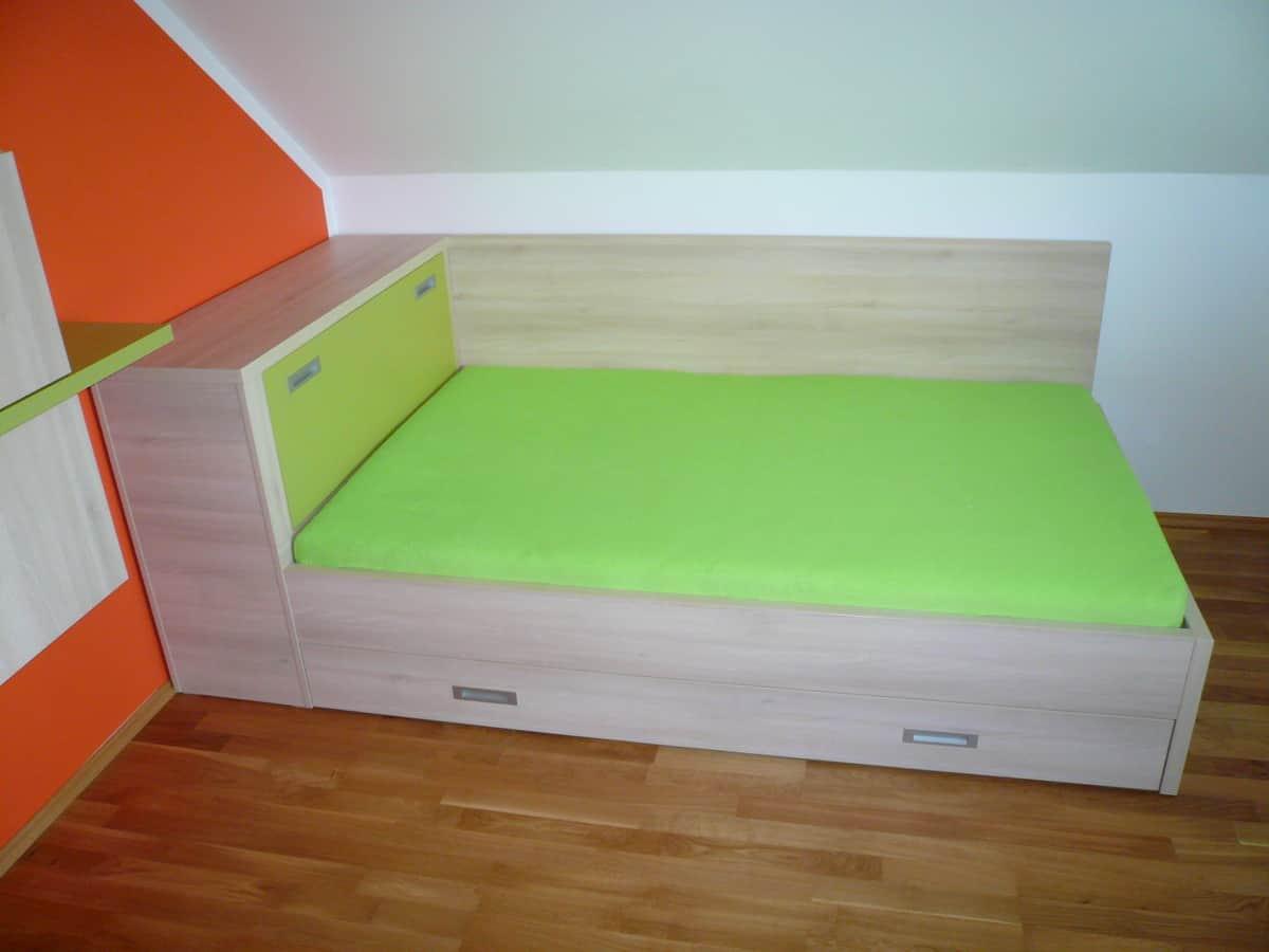 Dětský pokoj v oranžové a zelené 2