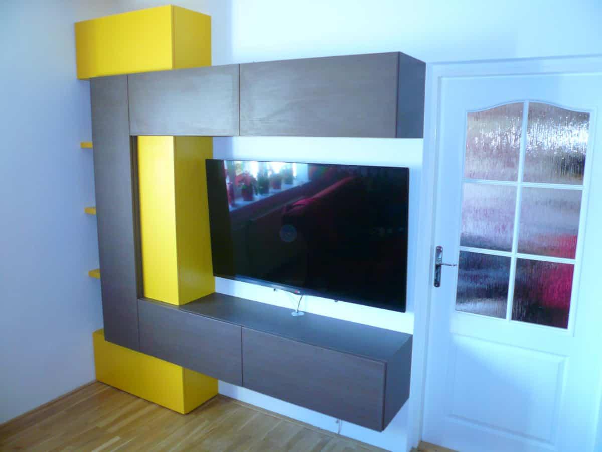 Obývací stěny s televizí, designové police 4